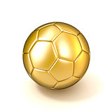Golden football - soccer ball isolated on white background. 3D