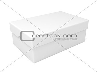 Closed white box, 3D