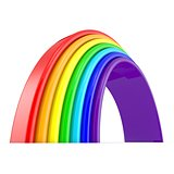 Rainbow. Side view. 3D