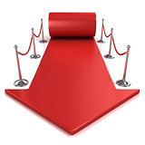 Red carpet arrow