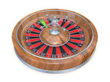 Roulette wheel. Side view. 3D