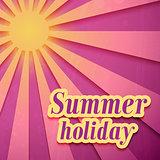 Summer Holiday background.