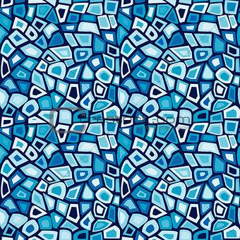 Blue mosaic seamless background
