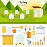 Apiary in the garden