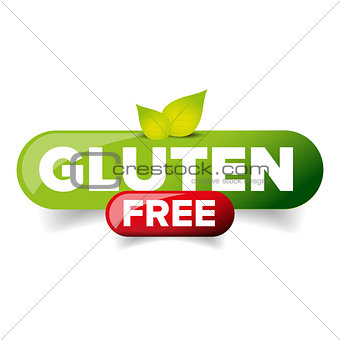 Gluten Free vector button