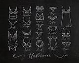Underwear classic icons chalk
