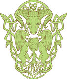 Bighorn Sheep Lion Tree Coat of Arms Celtic Knot