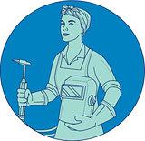 Female Welder Acetylene Welding Torch Mono Line