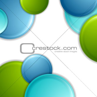 Bright geometric background with circles