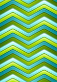 Abstract green and turquoise curved stripes