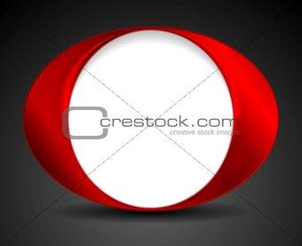 Abstract bright circle O shape logo design