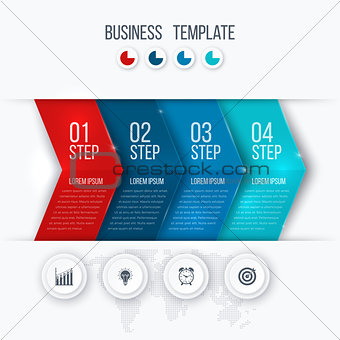 Business project template with arrows