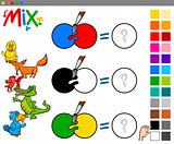 mix colors educational activity