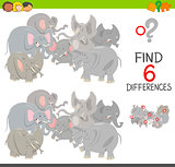 differences game with elephants