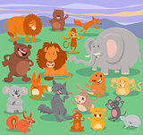 wild animal characters group