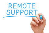 Remote Support Blue Marker