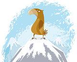 Eagle on peak