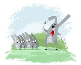 Hare trains children
