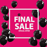 Abstract Designs Final Sale Banner in Black, Pink Colours with F
