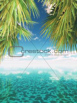 3D tropical landscape