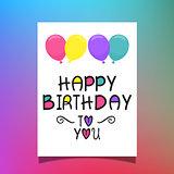 Birthday balloons card