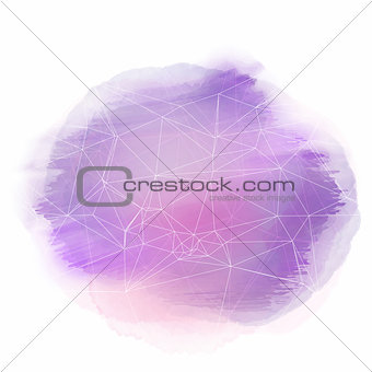 Watercolour background with abstract design