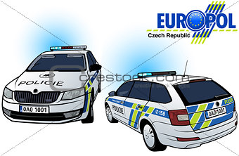 Czech Police Car