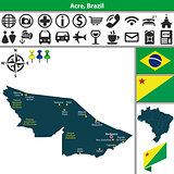 Map of Acre, Brazil