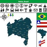 Map of Bahia, Brazil
