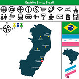 Map of Espirito Santo, Brazil