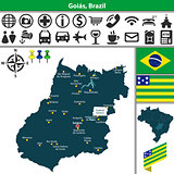 Map of Goias, Brazil