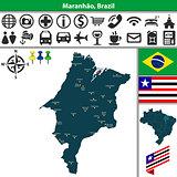 Map of Maranhao, Brazil