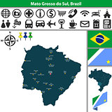 Map of Mato Grosso do Sul, Brazil