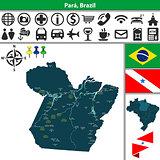 Map of Para, Brazil