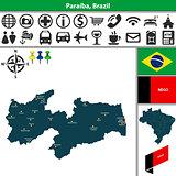 Map of Paraiba, Brazil