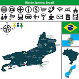 Map of Rio de Janeiro, Brazil