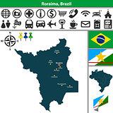 Map of Roraima, Brazil