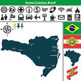 Map of Santa Catarina, Brazil