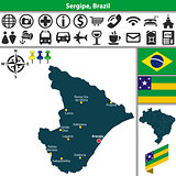 Map of Sergipe, Brazil