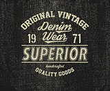 Original vintage Denim print for t-shirt.