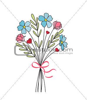 Bouquet of meadow flowers