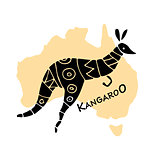 Kangaroo, sketch for your design