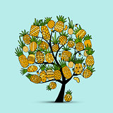 Pineapple tree, sketch for your design