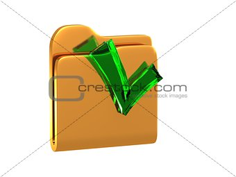 folder with a tick