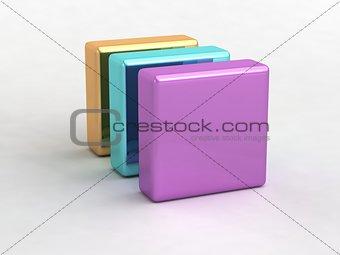 cube block folder file