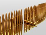 Bullets 9mm ammo row