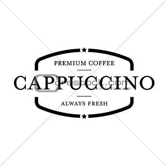 Cappuccino vintage stamp logo