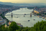 Gelert hill view of Szechenyi Bridge