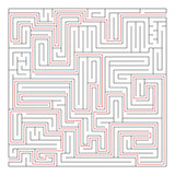 Isolated black square maze labyrinth