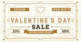 Valentine's Day Sale Retro Background.